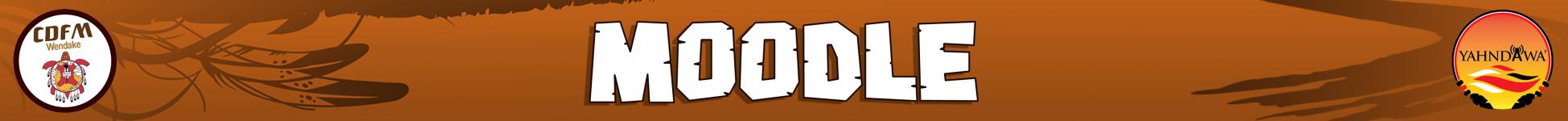 Logo of Moodle CDFM Wendake